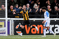 Jack Powell celebrates scoring Maidstone's second goal during Maidstone United vs Havant and Waterlooville, Vanarama National League Football at the Gallagher Stadium on 9th March 2019