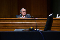 United States Senator Jim Risch (Republican of Idaho) listens during the U.S. Senate Committee on Energy and Natural Resources hearing on Capitol Hill in Washington D.C., U.S., as they consider the nomination of Mark Menezes to be Deputy Secretary of the U.S. Department of Energy on Wednesday, May 20, 2020.  Credit: Stefani Reynolds / CNP/AdMedia