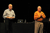 LONDON, ENGLAND - MAY 13: Steve Murphy and Javier Pena speaking at 'DEA NARCOS' at Brixton Academy on May 13, 2018 in London, England.<br /> CAP/MAR<br /> &copy;MAR/Capital Pictures
