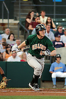 Lynchburg Hillcats designated hitter Adam Milligan #40 at bat during a game against the Myrtle Beach Pelicans at Ticketreturn.com Field at Pelicans Park on May 24, 2012 in Myrtle Beach, South Carolina. Myrtle Beach defeated Lynchburg by the score of 8-6. (Robert Gurganus/Four Seam Images)