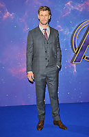 """Chris Hemsworth at the """"Avengers: Endgame"""" UK fan event, Picturehouse Central, Corner of Shaftesbury Avenue and Great Windmill Street, London, England, UK, on Wednesday 10th April 2019. <br /> CAP/CAN<br /> ©CAN/Capital Pictures"""