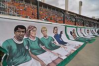 SÃO PAULO, SP, 14 DE JANEIRO DE 2012 - AMISTOSO INTERNACIONAL - PALMEIRAS X AJAX (HOL) - Torcida do palmeiras homenageia o goleiro marcos antes da  partida amistosa entre Palmeiras x Ajax (Hol) realizada no Estádio do Pacaembú. FOTO: LEVI BIANCO - NEWS FREE