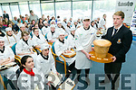Apprentice Chef final at  IT Tralee on Thursday. Pictured Padraic Randles, Pobalscoil Inbhear Sceine, Kenmare, was presented with the Overall Winner's Trophy by  George Hennessy from Middleton College, Cork last years winner