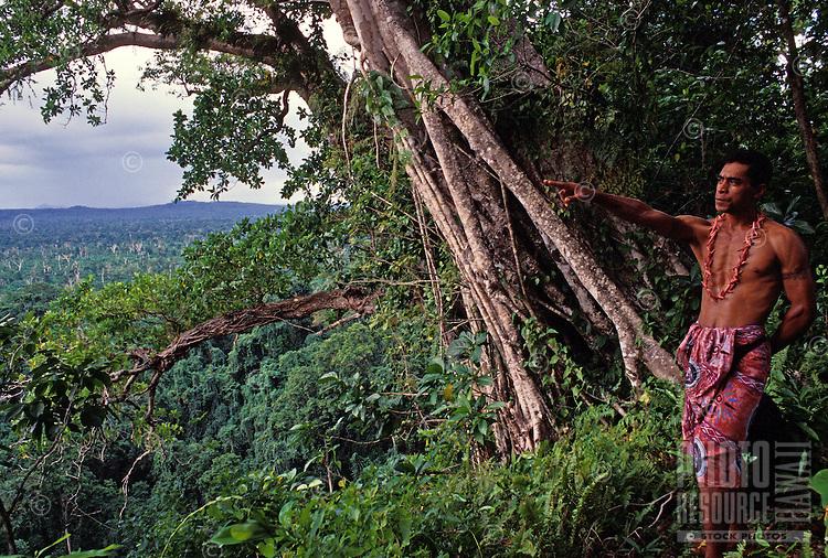 Guide in Tafua Rainforest Preserve, Savaii, Samoa