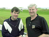 Pictured at the Murphy's Irish Open in Ballybunion were on left JP MacManus and Padraig Liston, Managing Director, Murphy's Irish Stout..Picture by Don MacMonagle.
