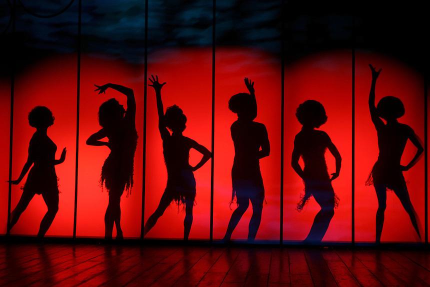 """The Cagelles of """"La Cage aux Folles"""" .  Longacre Theatre, W. 48 St., NYC.  Photo by Ari Mintz  4/5/2010."""