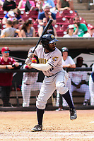 Burlington Bees outfielder Kevin Williams (11) at bat during a Midwest League game against the Wisconsin Timber Rattlers on May 19, 2018 at Fox Cities Stadium in Appleton, Wisconsin. Wisconsin defeated Burlington 1-0. (Brad Krause/Four Seam Images)