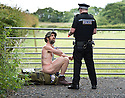 *** Warning - Images Contain Nudity *** Naked Rambler Stephen Gough Arrest