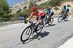 Race leader Red Jersey Miguel Angel Lopez Moreno (COL) and Manuele Boaro (ITA) Astana Pro Team descends during Stage 2 of La Vuelta 2019 running 199.6km from Benidorm to Calpe, Spain. 25th August 2019.<br /> Picture: Luis Angel Gomez/Photogomezsport | Cyclefile<br /> <br /> All photos usage must carry mandatory copyright credit (© Cyclefile | Luis Angel Gomez/Photogomezsport)