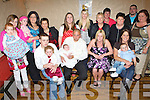9677-9680..Congratulations - Michael Buckley, Rathoonane & Sarah Kelliher, Camp, seated centre celebrating the Christening of their daughter Alisha with friends and family and family in The Greyhound Bar on Saturday.............   Copyright Kerry's Eye 2008