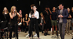 """Erin Mosher, Lena Hall and Bradley Dean with cast during Jim Steinman's """"Bat Out of Hell - The Musical"""" - Open Rehearsal at New York City Center on July 30, 2019 in New York City."""