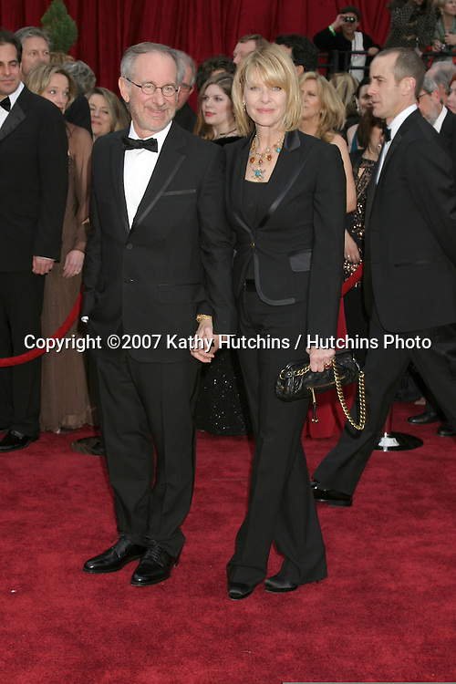 Steven Spielberg & Kate Capshaw.79th Annual Academy Awards.Kodak Theater .Hollywood & Highland.Hollywood, CA.February 25, 2007.©2007 Kathy Hutchins / Hutchins Photo....