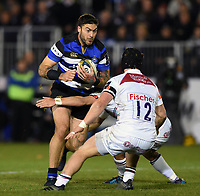 Matt Banahan of Bath Rugby in possession. Anglo-Welsh Cup match, between Bath Rugby and Leicester Tigers on November 10, 2017 at the Recreation Ground in Bath, England. Photo by: Patrick Khachfe / Onside Images