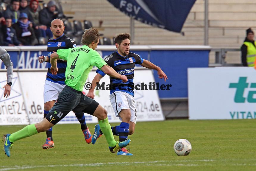 Michael Görlitz (FSV) gegen Kai Bülow (1860) - FSV Frankfurt vs. TSV 1860 München Frankfurter Volksbank Stadion