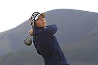Alexandra Forsterling (GER) on the 2nd tee during Round 2 of the Women's Amateur Championship at Royal County Down Golf Club in Newcastle Co. Down on Wednesday 12th June 2019.<br /> Picture:  Thos Caffrey / www.golffile.ie