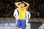 FC Barcelona's Munir El Haddadi dejected during La Liga match. April 9,2016. (ALTERPHOTOS/Acero)