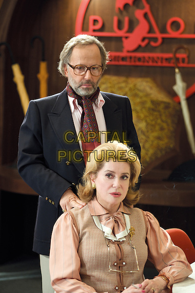Fabrice Luchini & Catherine Deneuve.in Potiche.*Filmstill - Editorial Use Only*.CAP/PLF.Supplied by Capital Pictures.