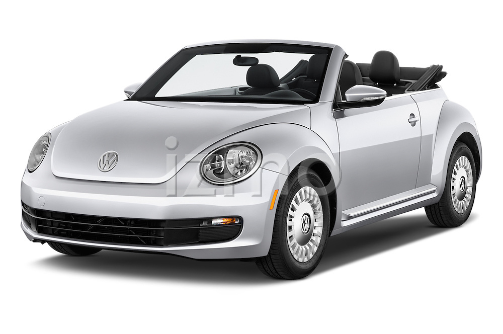 2015 Volkswagen Beetle - 2 Door Convertible 2WD Angular Front stock photos of front three quarter view