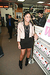 Angela Yee at J&R MUSIC WORLD hosts the exclusive NYC signing for hip-hop rising star WALE'S critically acclaimed new album AMBITION at J&R Music Store, 23 Park Row, NY 11/2/11