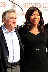 LOS ANGELES, CA - FEB 4: Robert De Niro, wife Grace Hightower at a ceremony where Robert De Niro is honored with hand and foot prints at TCL Chinese Theater on February 4, 2013 in Los Angeles, California
