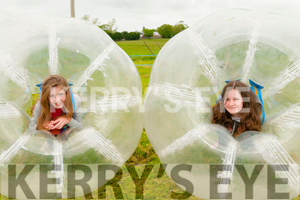 Lixnaw Vintage : Having fun in the bubble balls at the Lixnaw Vintage Rally on Sunday last were Cara Cullen & Kelly Meehan.