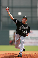 July 17 2008: Kevin Pucetas of the San Jose Giants during game against the Lancaster JetHawks at Clear Channel Stadium in Lancaster,CA.  Photo by Larry Goren/Four Seam Images