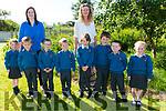 Scoil Mhichíl Ballinskelligs had eight new juniors start school on Friday pictured here with teachers Tríona Ní Chofaigh & Síle Ni Shiochrú were front l-r; Evie Nic Chártaigh, Séan Ó Conchúr, Séan Ó Súilleabháin, Ronan Ó Siochrú, Dylan Ó Drisceoil, Séamus Ó Siochrú, Aoidán Ó Drisceoil agus Cadhla Breathnach.