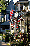 Flags on the porches of Historic Victorian Homes in Ocean Grove,  New Jersey. Photo By Bill Denver/EQUI-PHOTO