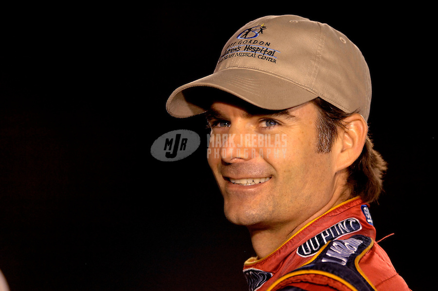 Oct 12, 2006; Concord, NC, USA; Nascar Nextel Cup driver Jeff Gordon (24) during qualifying for the Bank of America 500 at Lowes Motor Speedway. Mandatory Credit: Mark J. Rebilas