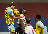 Bolton Wanderers' Clayton Donaldson competing with Rotherham United's Clark Robertson<br /> <br /> Photographer Andrew Kearns/CameraSport<br /> <br /> The EFL Sky Bet Championship - Bolton Wanderers v Rotherham United - Wednesday 26th December 2018 - University of Bolton Stadium - Bolton<br /> <br /> World Copyright &copy; 2018 CameraSport. All rights reserved. 43 Linden Ave. Countesthorpe. Leicester. England. LE8 5PG - Tel: +44 (0) 116 277 4147 - admin@camerasport.com - www.camerasport.com