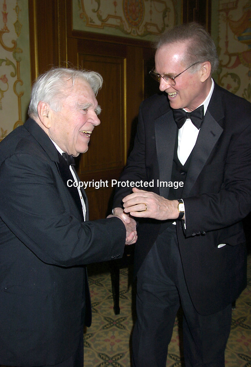 Andy Rooney and Charles Grodin ..at The 57th Annual  Writers Guild Awards on February 19, 2005 at The Pierre Hotel in New York City. Claire Labine got ..an award and  Guiding Light won for Best Soap Opera. ..Photo by Robin Platzer, Twin Images.