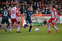 Nicky Adams of Buryand Johnny Hunt of Stevenage during Stevenage vs Bury, Sky Bet EFL League 2 Football at the Lamex Stadium on 9th March 2019