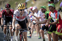 Bauke Mollema  (NED/Trek-Segafredo) up the Tourmalet (HC/2115m/19km @7.4%)<br /> <br /> Stage 14: Tarbes to Tourmalet (117km)<br /> 106th Tour de France 2019 (2.UWT)<br /> <br /> ©kramon