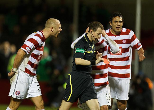 Simon Mensing raging as he is sent off