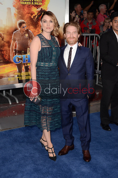 "Clare Grant, Seth Green<br /> at the ""Chips"" Los Angeles Premiere, TCL Chinese Theater, Hollywood, CA 03-20-17<br /> David Edwards/DailyCeleb.com 818-249-4998"
