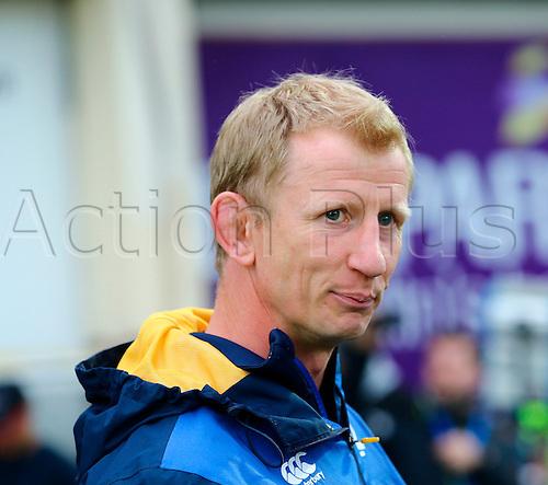 20.05.2016. RDS Arena, Dublin, Ireland. Guinness Pro12 Semi Final. Leinster versus Ulster.<br /> Leinster Head Coach Leo Cullen.