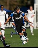 Javier Robles of Earthquakes in action during the game against Real Salt Lake at Buck Shaw Stadium in Santa Clara, California on March 27th, 2010.   Real Salt Lake defeated San Jose Earthquakes, 3-0.