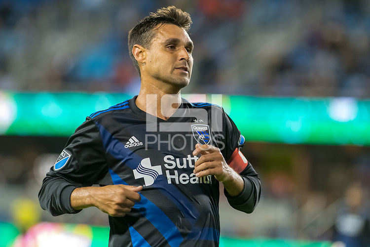 San Jose, CA - Thursday January 21, 2016: Chris Wondolowski during a Major League Soccer (MLS) match between the San Jose Earthquakes and the New York Red Bulls at Avaya Stadium.