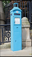 BNPS.co.uk (01202 558833)<br /> Pic: AmberleyPublishing/BNPS<br /> <br /> A surviving but disused Police Telephone Pillar at St Martin&rsquo;s Le Grande, EC1, London.<br /> <br /> The iconic British phonebox has been given a ringing endorsement in a new book charting the expiring institution's fascinating history. <br /> <br /> Aptly titled 'The British Phonebox', the book primarily focuses on the ubiquitous design that's as emblematic to Britain as the black cab, double decker bus and Houses of Parliament. <br /> <br /> Equally interesting are the early chapters, which detail the phonebox's humble 19th century beginnings and the final ones, that bemoan their dwindling numbers <br /> <br /> The 96 page paperback, jointly authored by friends Nigel Linge and Andy Sutton, is published by Amberley and costs &pound;13.49.