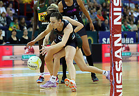 02.08.2017 Silver Ferns Bailey Mes in action during a netball match between the Silver Ferns and South Africa at the Brisbane Entertainment Centre in Brisbane Australia. Mandatory Photo Credit ©Michael Bradley.