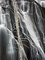 Many of the best views in the older national parks are near parking lots with minimal hiking involved.  That was the case in Americas' oldest National Park, Yellowstone.  This is Gibbon Falls.  The challenge with this photo was to wait for some clouds to cover the tree and make it less harsh.  Believe it or not, this is a color photograph....