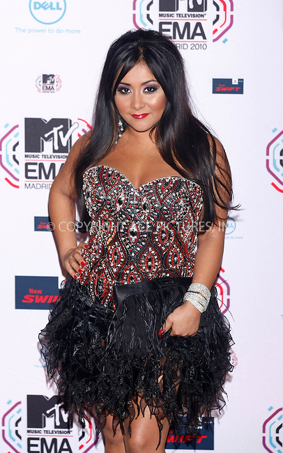 WWW.ACEPIXS.COM . . . . .  ..... . . . . US SALES ONLY . . . . .....November 7 2010, Madrid....Nicole Polizzi aka Snooki at the MTV Europe Music Awards on November 7 2010 in Madrid....Please byline: FAMOUS-ACE PICTURES... . . . .  ....Ace Pictures, Inc:  ..Tel: (212) 243-8787..e-mail: info@acepixs.com..web: http://www.acepixs.com