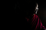 Nawang Tundup, a Tibetan monk at the Thiksey Monastery in Leh, Ladakh in Kashmir, India