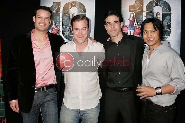 B.P. Cooper and James DeBello with Aaron Michael Metchik and Johnny Asuncion<br />