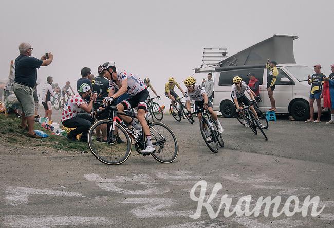 main group up the Port de Bal&egrave;s (HC/1755m/11.7km/7.7%)<br /> <br /> 104th Tour de France 2017<br /> Stage 12 - Pau &rsaquo; Peyragudes (214km)