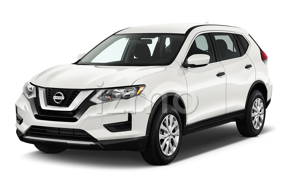 2017 Nissan Rogue S 5 Door SUV Angular Front stock photos of front three quarter view