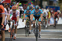 crossing the finish line<br /> <br /> U23 Road Race<br /> UCI Road World Championships Richmond 2015 / USA