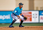 1 March 2019: Miami Marlins infielder Dixon Machado in action during a Spring Training game against the Washington Nationals at Roger Dean Stadium in Jupiter, Florida. The Nationals defeated the Marlins 5-4 in Grapefruit League play. Mandatory Credit: Ed Wolfstein Photo *** RAW (NEF) Image File Available ***