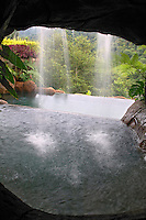 The swimming pool at the La Paz Waterfall Gardens and Peace Lodge, Costa Rica