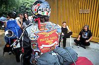 """- gathering of """"bikers"""" motorcyclists, Motoguzzi....- raduno di motociclisti """"bikers"""", Motoguzzi"""